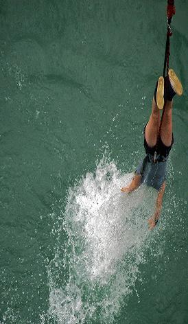 saut à l'élastique pau pyrénées atlantique viaduc arudy 64